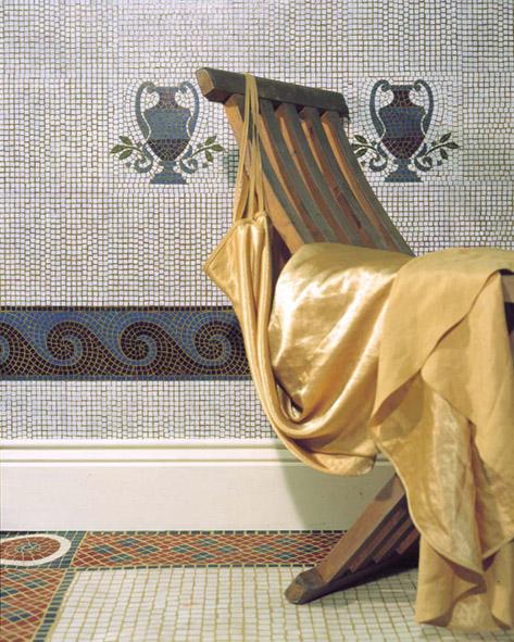Stencilled mosaic room