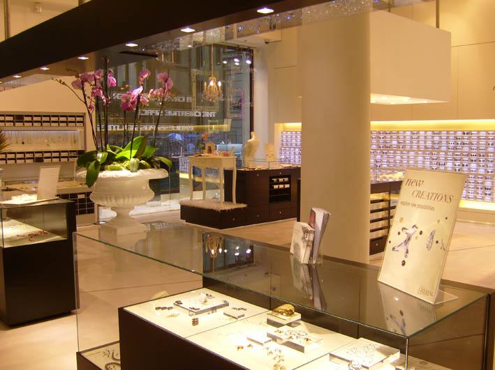 Crystallized shop interior