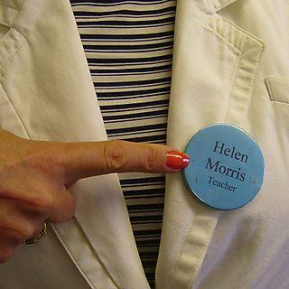 Helen Morris teacher badge