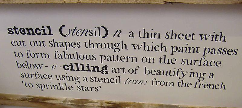 Stencil definition in stencil shop