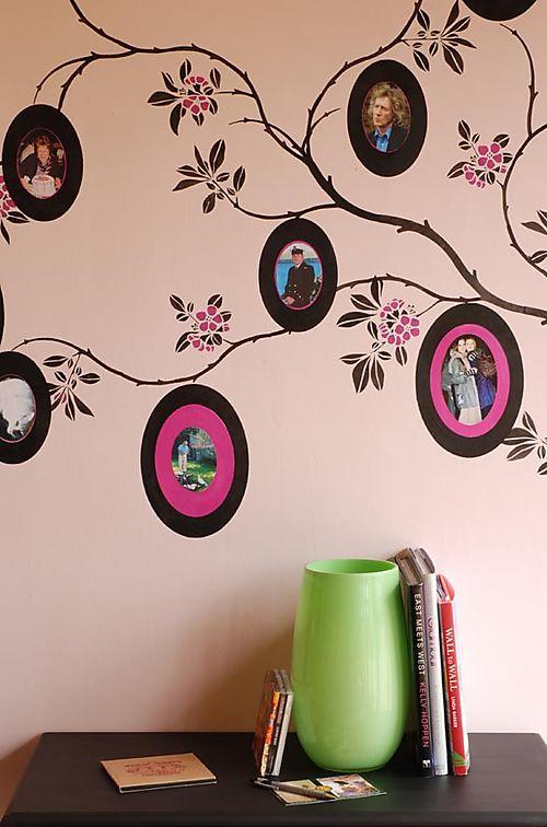 DR2 cherry blossom & PR Oval stencil 07
