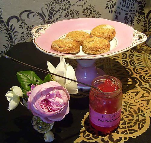 5 rose petal jam with lavender scone 23