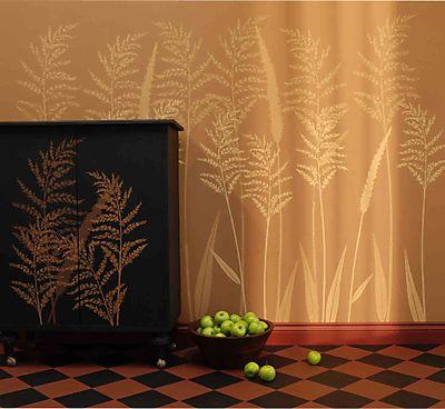 Larger Than Life Ornamental Grass stencil