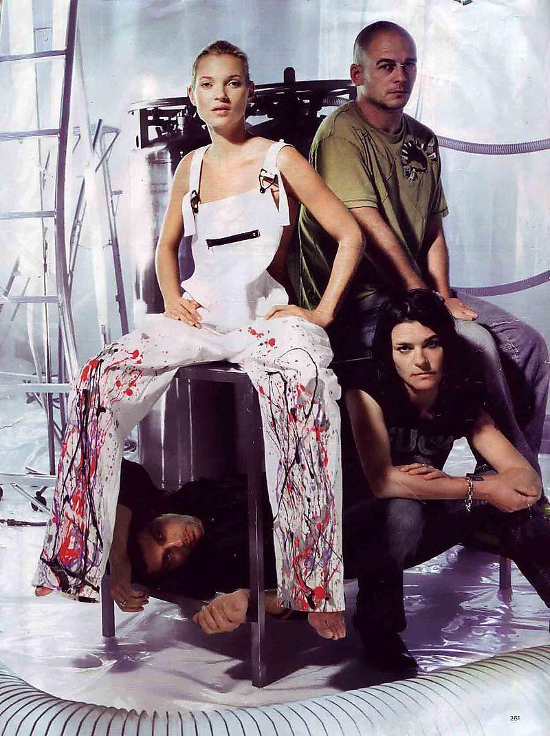 Splatter overalls Vogue