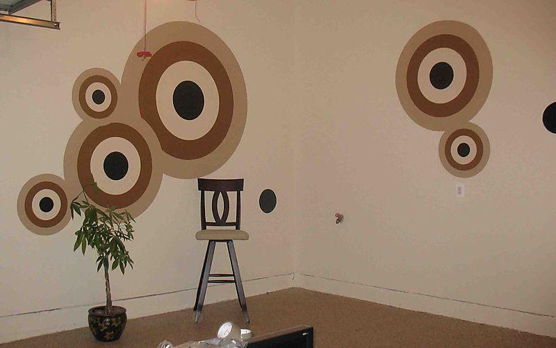 Bonzart stencilled circles 29
