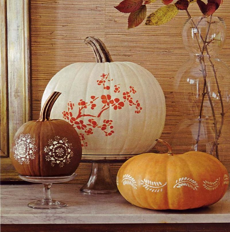 Home Journal stenciled pumpkin