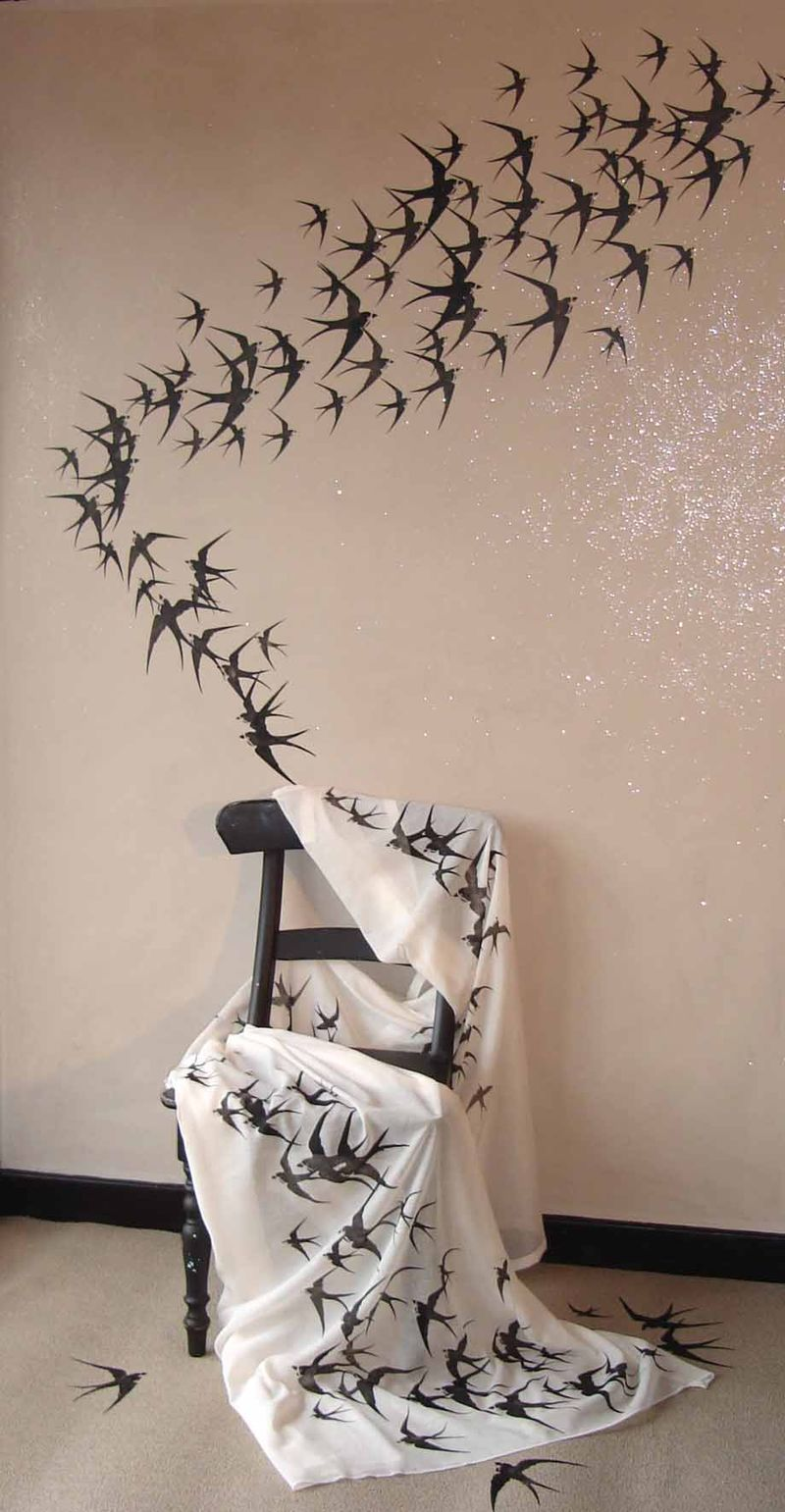 Swallow stencil from Stencil-Library 130
