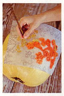 Stenciling a pumpkin LHJ mag