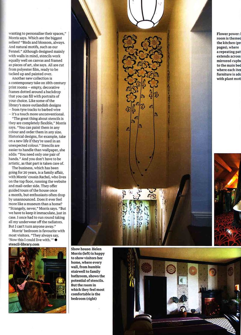 Guardian stencilled home feature