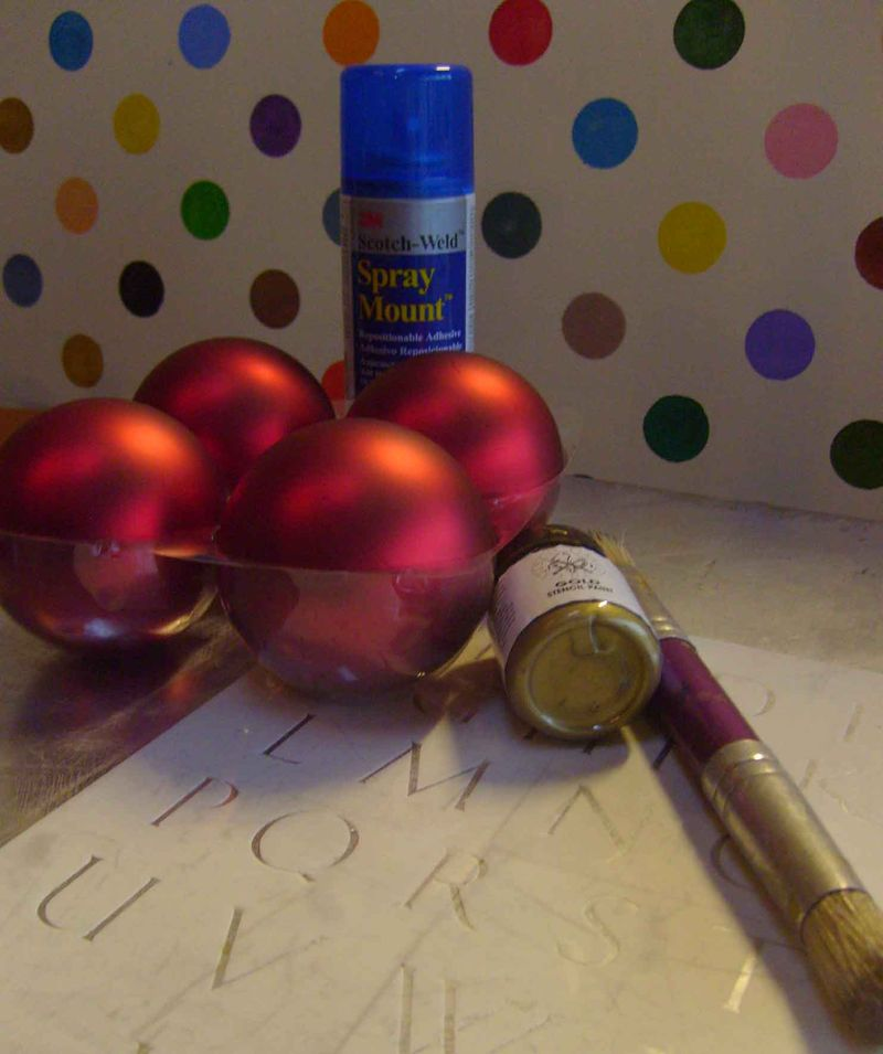 Baubles and alphabet 94