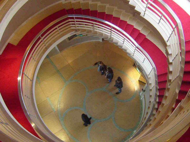 Midland Hotel staircase down 53