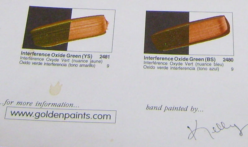 Golden paint chart signature 88