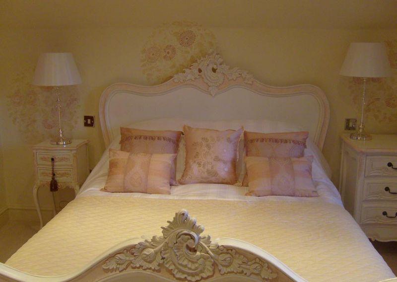 8. JA119 stenciled bedroom 49