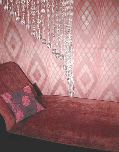 MD8 Snake lge with cushion pink