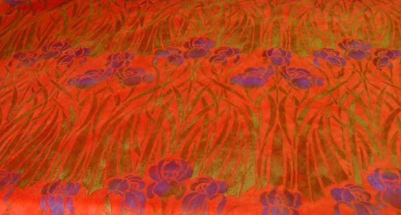Rachel's stencilled velvet33