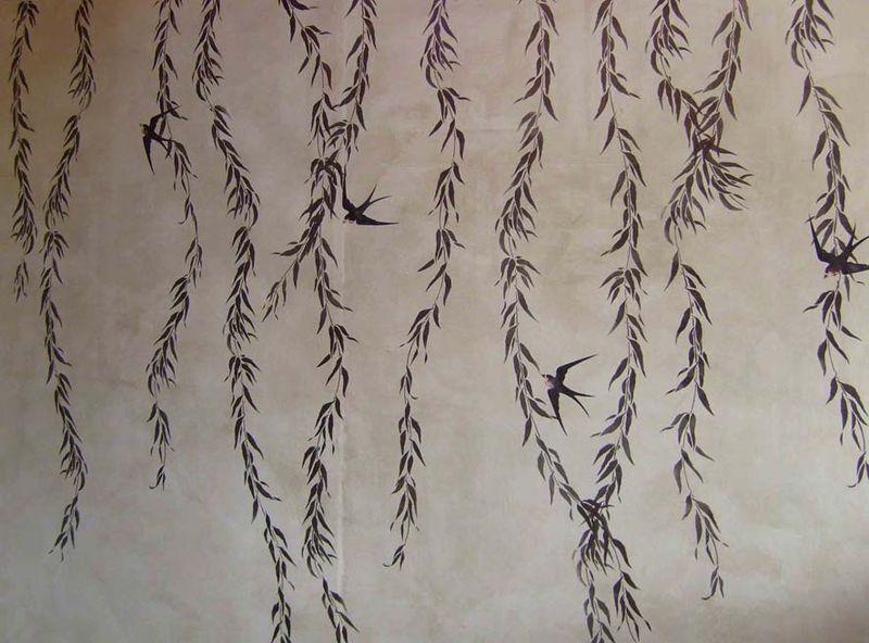3 JA willow stencil library bronze