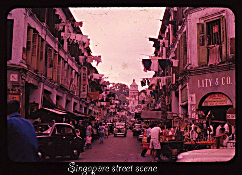 Singapore street scene Singapore