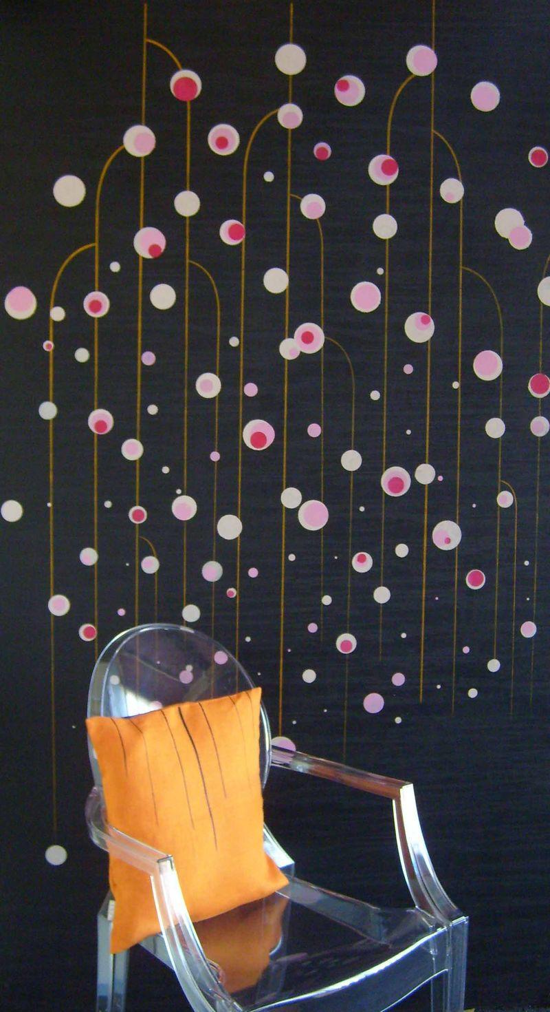 Designer Blossom stencil & Ghost Chair