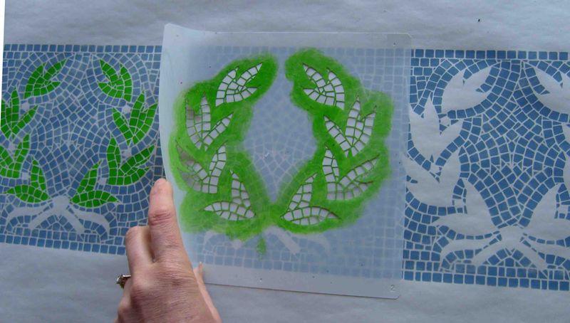 3 stenciling mosaic 17 EM