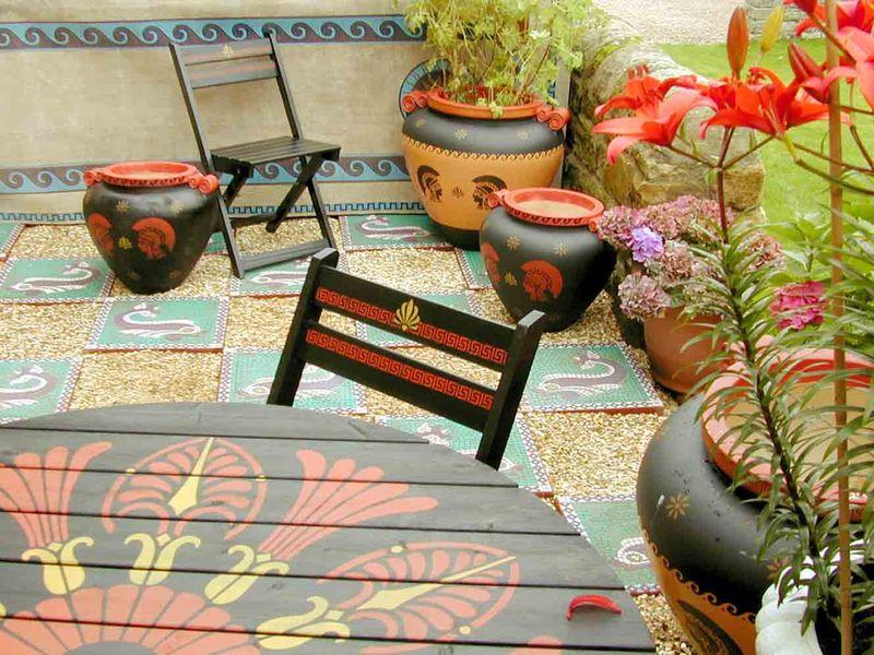 Mosaic patio