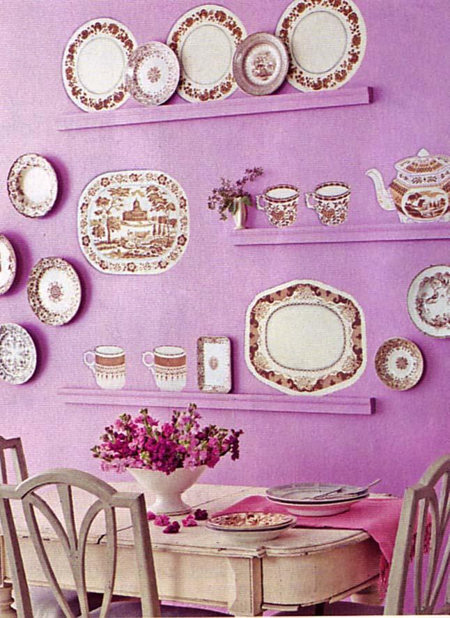 Stencilled plates Matthew Meade