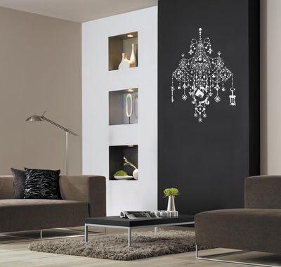 Black chandelier stencil