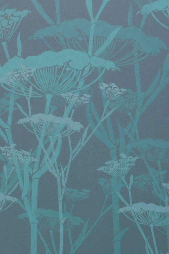 Fennel in aqua detail