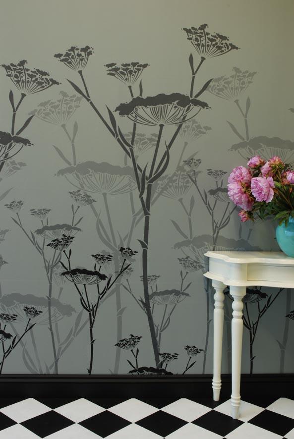 Fennel stencil grey