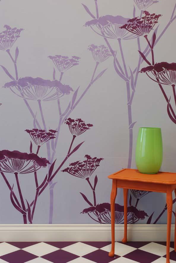 Fennel stencil lilac