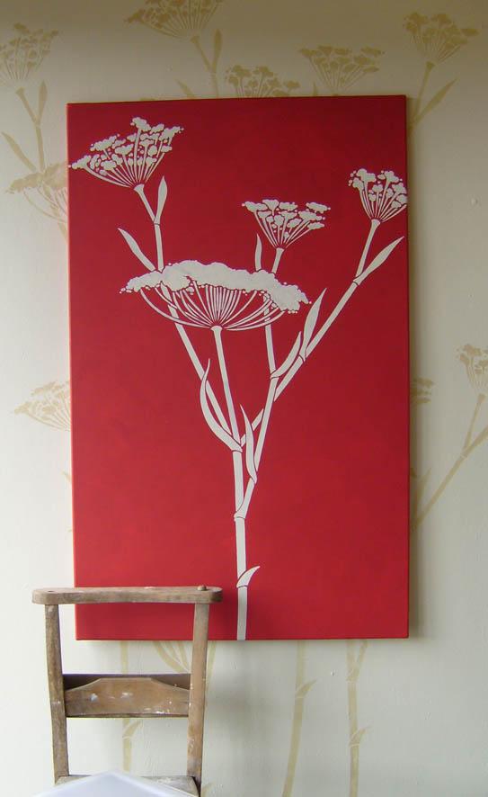 red fennel stencil