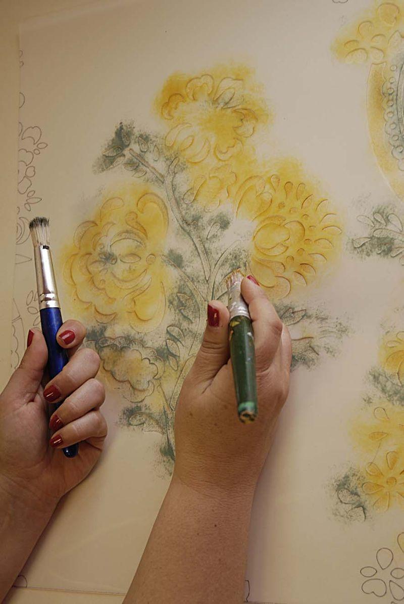 Gustavian style stencilling18-3