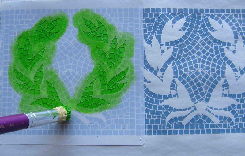 2 stenciling mosaic EM14