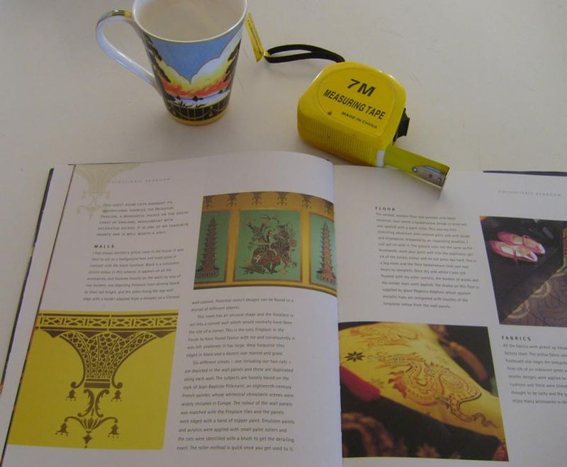 Yellow room Stencilled Home book