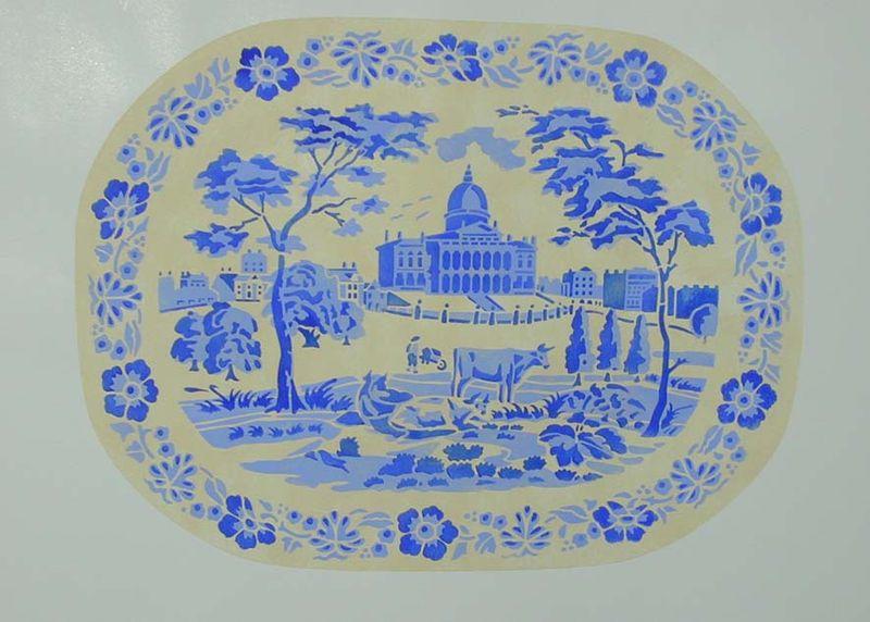 BW1 stencil of platter