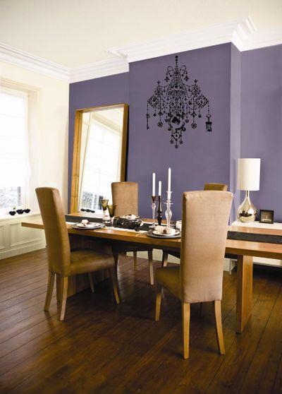 Purple dining stencil