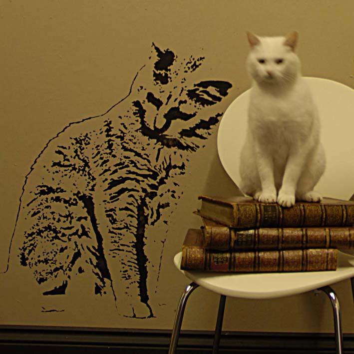 Cat stencil 046-1