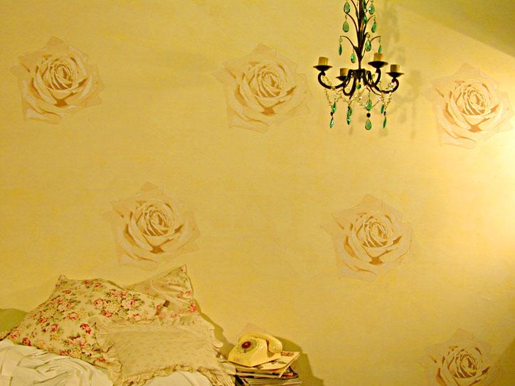 CO1 Rose stencil pastel