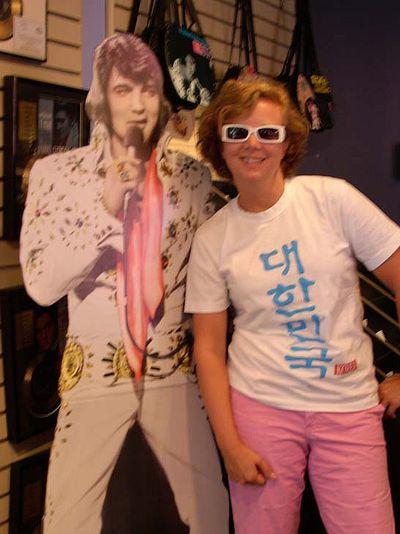 Cathy Rinn & Elvis at Graceland 56