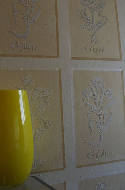 Tudor flowers plaster stencil library