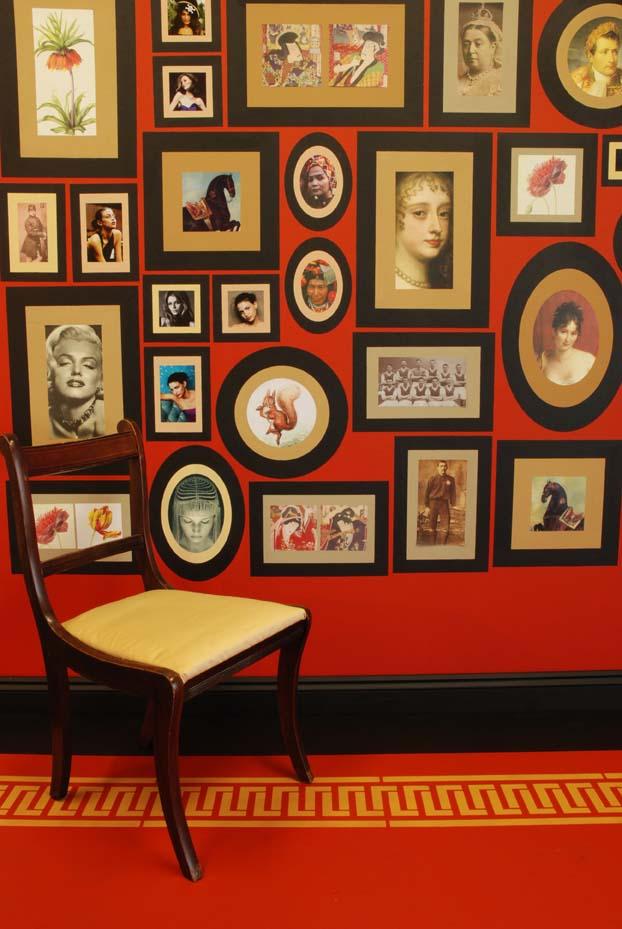 Print Room random stencilled frames.