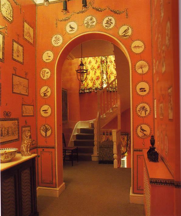 Orange print room paper magic-1