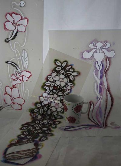 Art nouv free stencils 2000