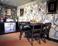 Gustavian kitchen stencil library