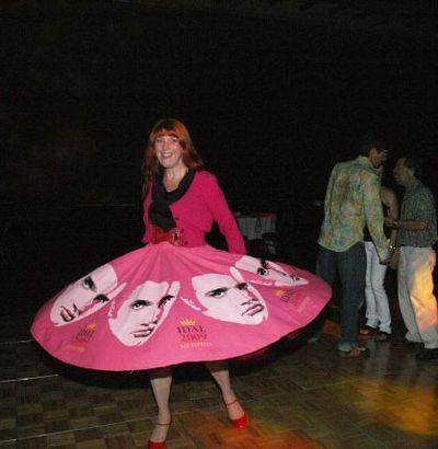 Helen Morris stencilled Elvis skirt P.Lampson