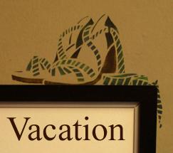 Vacation shoe stencil 07