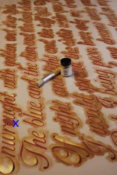 Script stencil library