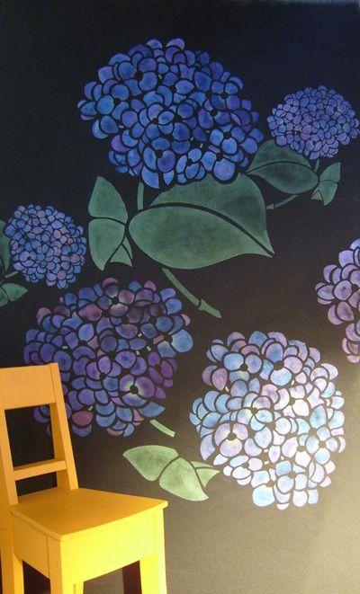 Hydrangea stencil library 069