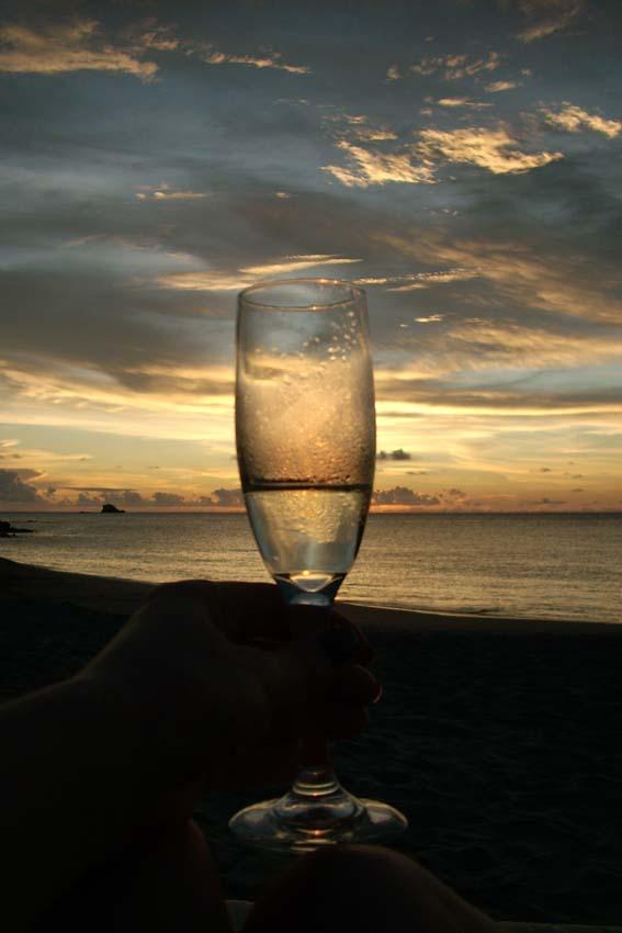 7 champagne sunset
