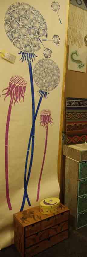 Dandelion stencil library 98