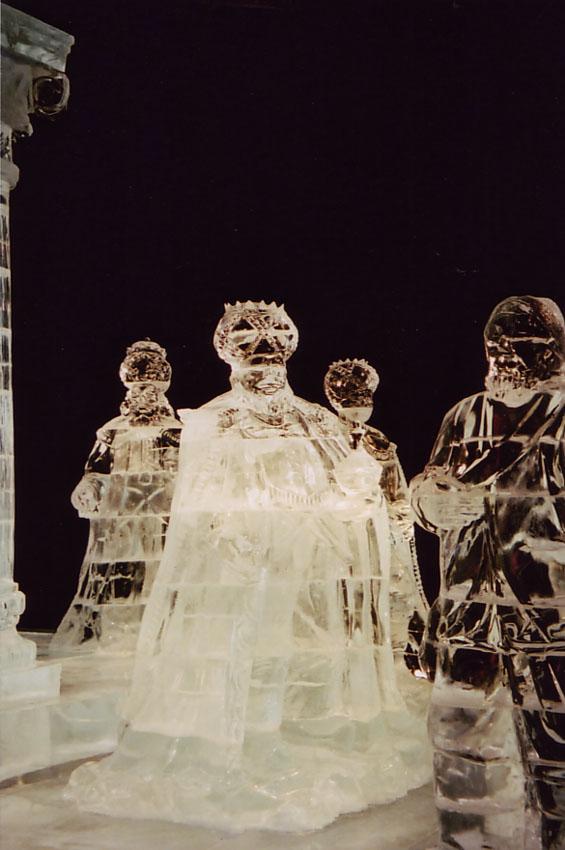 Ice sculpture nativity